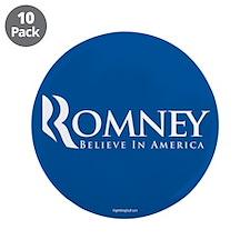 "Romney - Believe in America 3.5"" Button (10 pack)"