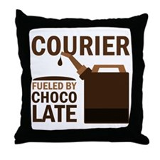 Courier Chocoholic Gift Throw Pillow