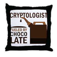 Cryptologist Chocoholic Gift Throw Pillow