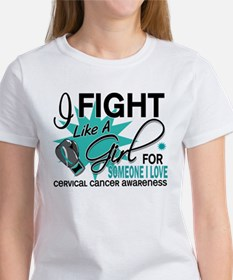 Fight Like A Girl For My Cervical Cancer Tee