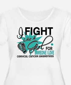 Fight Like A Girl For My Cervical Cancer T-Shirt
