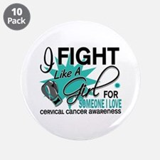 """Fight Like A Girl For My Cervical Cancer 3.5"""" Butt"""