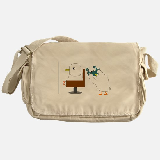 Haircut Messenger Bag