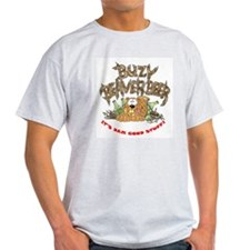 Buzy Beaver Beer Ash Grey T-Shirt