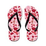 Pink Leopard Flip Flops