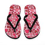 Pink Outline Leopard Flip Flops