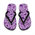 Purple Leopard Flip Flops