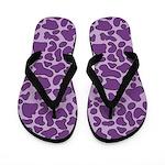 Purple Outline Leopard Flip Flops