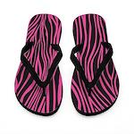 Zebra Pink Black Flip Flops