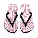 Zebra Pink White Flip Flops
