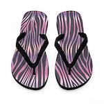 Zebra Purple Pink Flip Flops