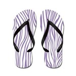 Zebra Purple White Flip Flops