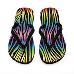 Zebra Rainbow Flip Flops