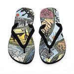 Around the World Flip Flops