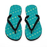 Asterisk-a-thon Blue Flip Flops