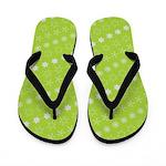 Asterisk-a-thon Green Flip Flops
