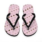 Asterisk-a-thon Pink Flip Flops