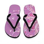 Floral Pinwheels Flip Flops