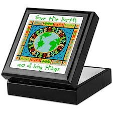 Save the Earth Tapestry Keepsake Box