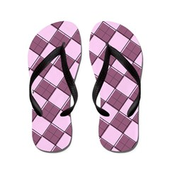 Argyle Out of Line Girly Flip Flops