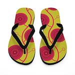 Spirolap Lime Flip Flops