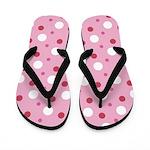 Brooklyn Pink Polka Flip Flops