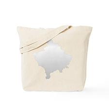 Kosovo Map Silver Tote Bag