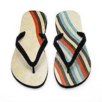 Grunge Stripes Flip Flops