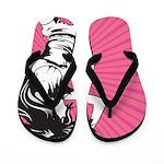 Dance Dance Pink Flip Flops