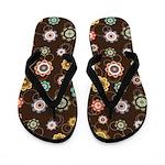 Urban Chic Floral Flip Flops