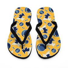 Yellow Scotty Dogs Flip Flops