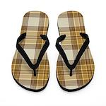 Brown Plaid Flip Flops