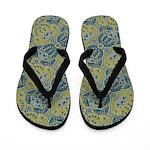 Patterned Pardesha Flip Flops