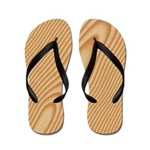 Pine Wood Flip Flops