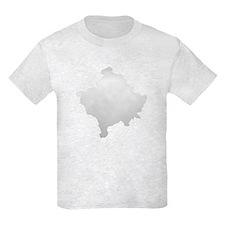 Kosovo Map Silver T-Shirt