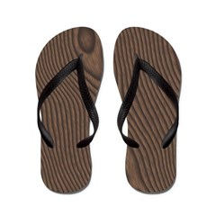 Ebony Wood Flip Flops