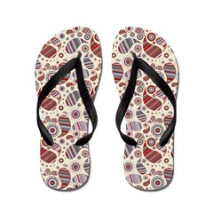 Cranberry Paisley Flip Flops
