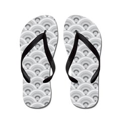 Gray Risebow Flip Flops