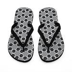 Black White Spolka Plots Flip Flops