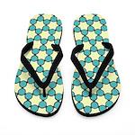 Mint Blue Spolka Plots Flip Flops