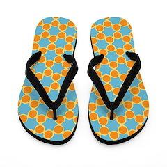 Orange Blue Spolka Plots Flip Flops