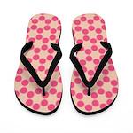 Pink Spolka Plots Flip Flops
