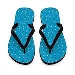 Bluesy Blue Circuitry Flip Flops