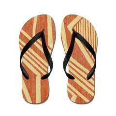 Amerindian Stripe Flip Flops