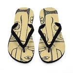 Haida Totem Flip Flops