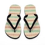 Pueblo Pattern Flip Flops