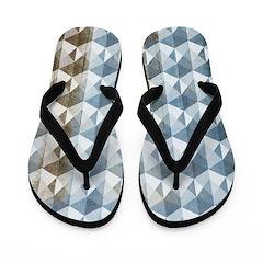 Optical Panes Gray Flip Flops