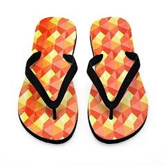 Optical Panes Orange Flip Flops