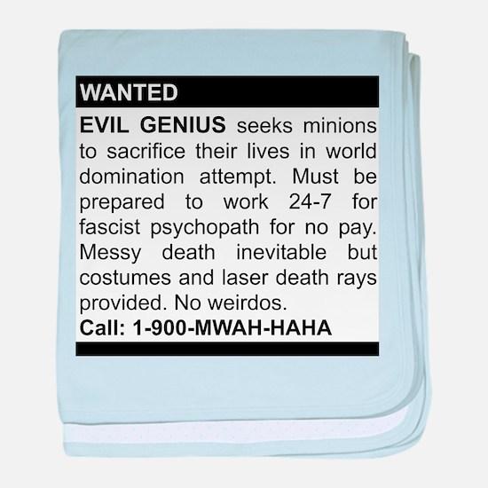Evil Genius Personal Ad baby blanket