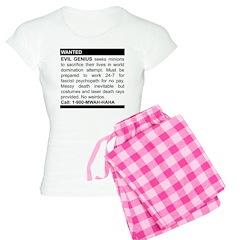 Evil Genius Personal Ad Women's Light Pajamas
